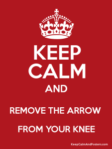 keep calm arrow