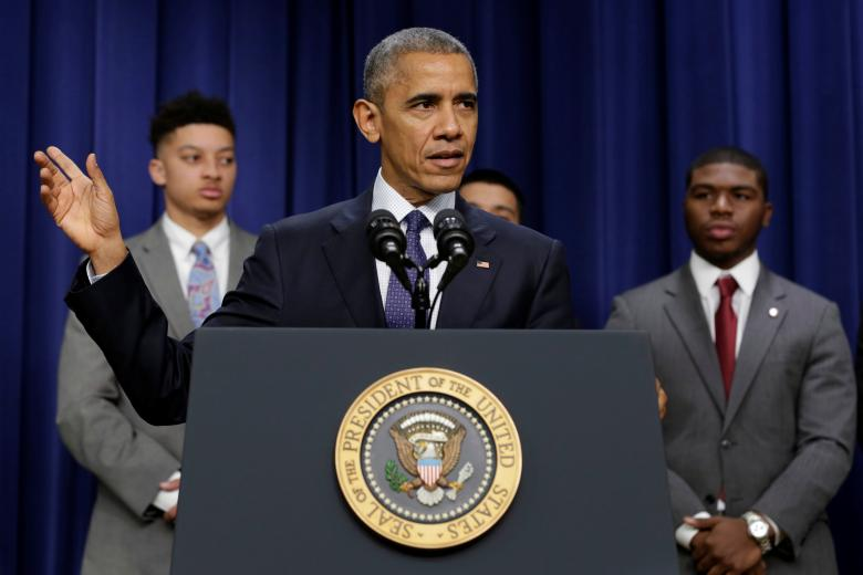 U.S. President Obama delivers remarks at the My Brother's Keeper Summit in Washington