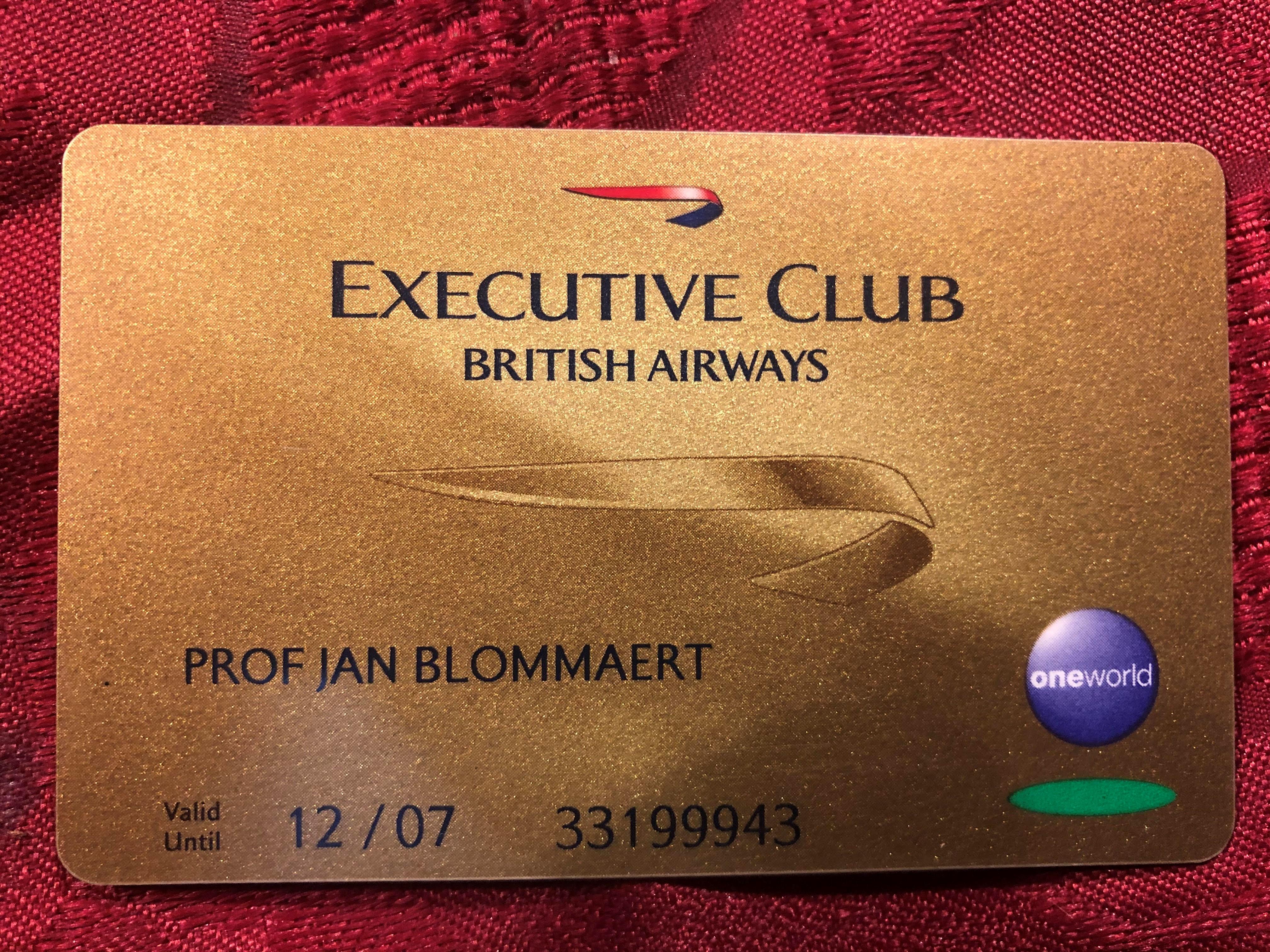 gold card vlak